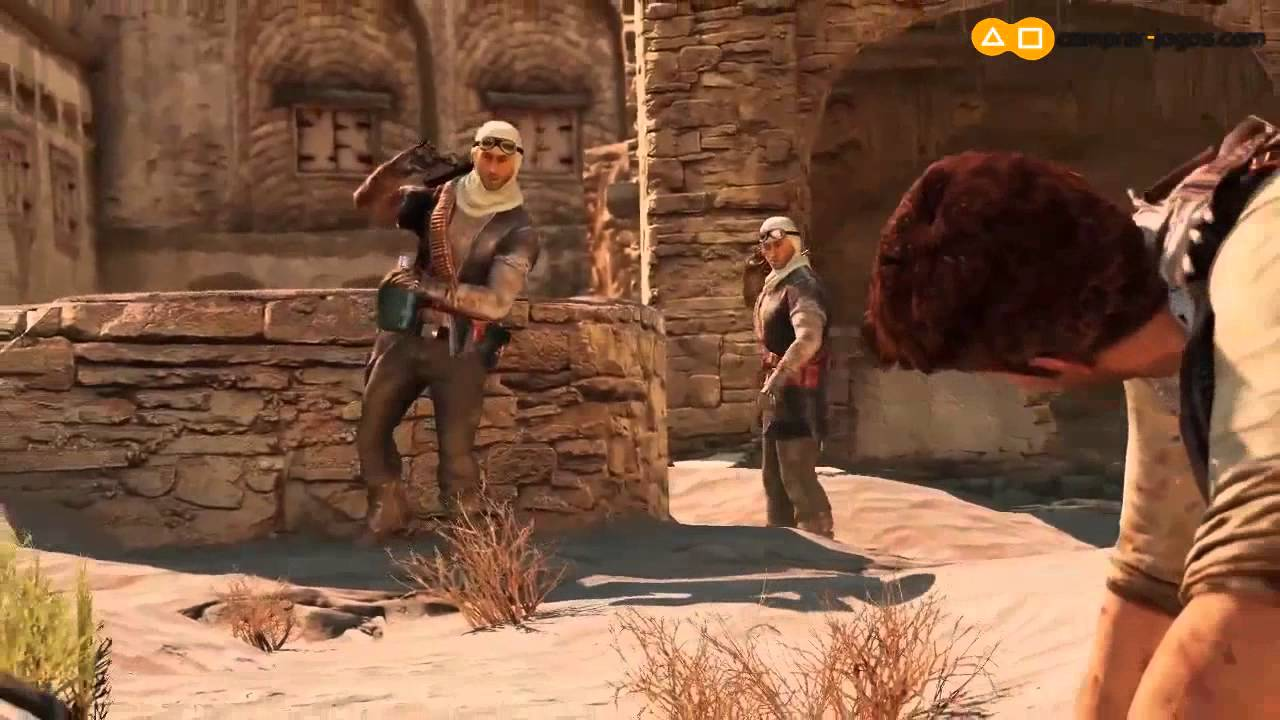 Uncharted 3 PS3 Gameplay Campanha no Deserto - YouTube