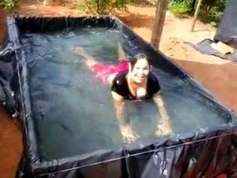 Piscina de pobre feita de lona youtube - Parches para piscinas de lona ...