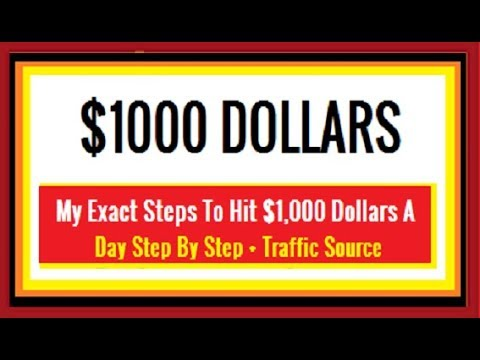 How To Make $1000 Dollars A Day Online Step By Step 2018