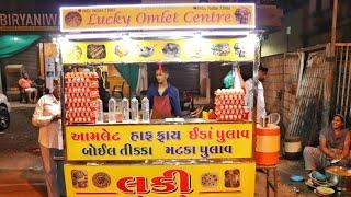 Egg Gravy Compilation At Lucky Omelette Center | Egg Street Food | Indian Street Food