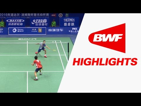 TOTAL BWF Thomas & Uber Cup Finals 2016 | Badminton Day4/S3-Thomas Cup Grp A-CHN vs JPN–Highlights