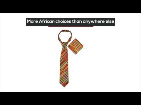 African ties for men