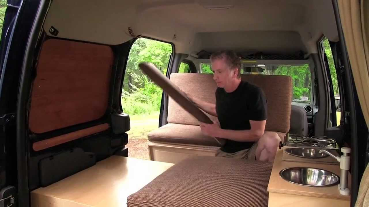 woodworker mods ford transit into camper van youtube - Ford Transit Connect Interior Camper