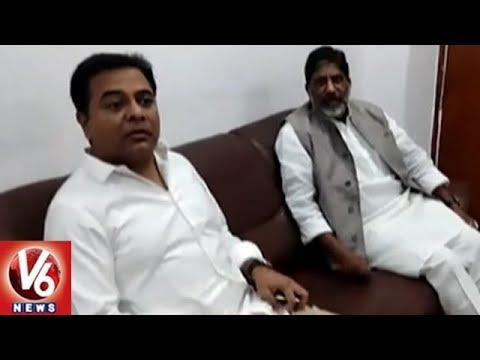 KTR Meets Congress CLP Leader Bhatti Vikramarka Over Deputy Speaker Selection | V6 News