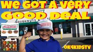 Krispy Kreme Donut Tour and Shopping  for Deals ok4kidstv video 220