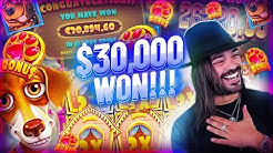 ROSHTEIN New Huge Win 30.000€ on The Dog House slot - TOP 5 Mega wins of the week