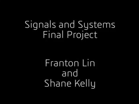 Signals and Systems: Data Transmission in the Audible Frequency