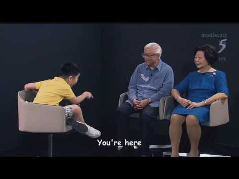 Innocent boy don't recognise President Tony Tan nor PM Lee