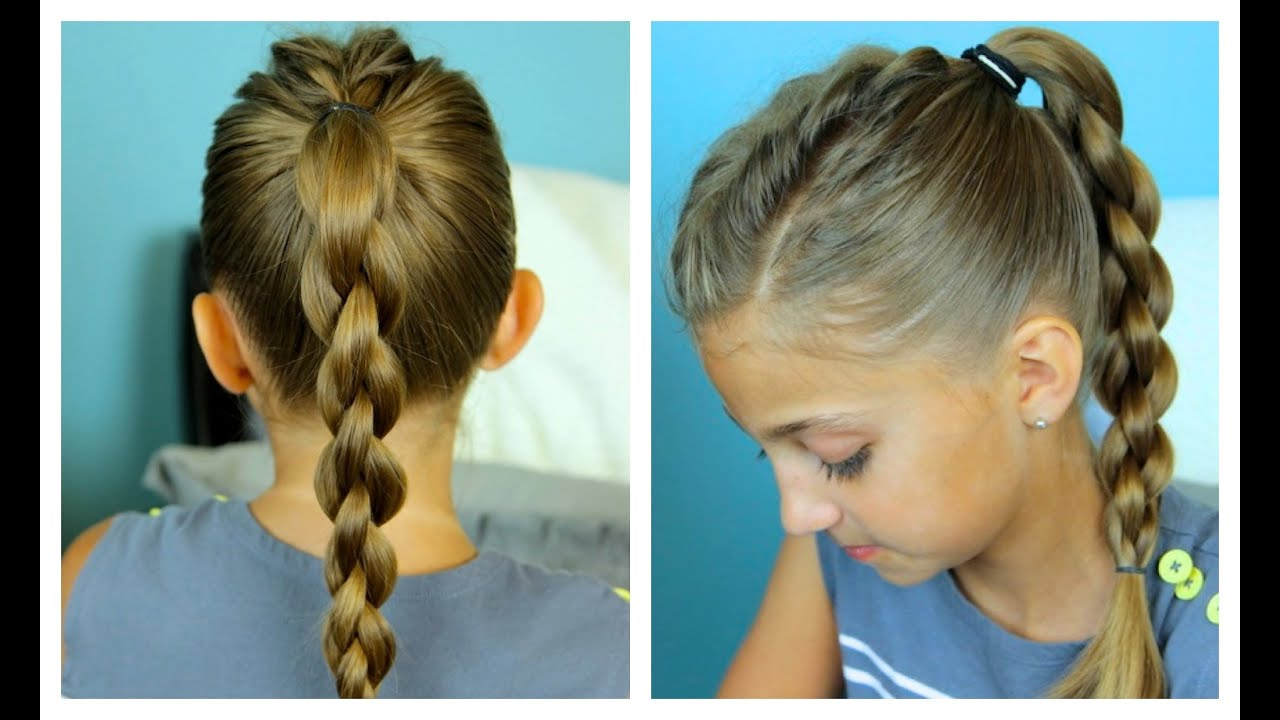 Single Frenchback Into 3d Round Braid Easy Hairstyles