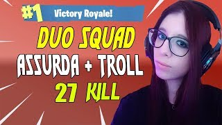 VITTORIA REALE DUO SQUAD! SO MUCH FUNIMENTO WITH GHOSTz 28 KILL FORTNITE ITA