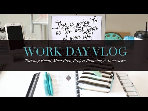 Tackling Email, Meal Prep, Project Plans & Interviews | Work Day Vlog August 2017