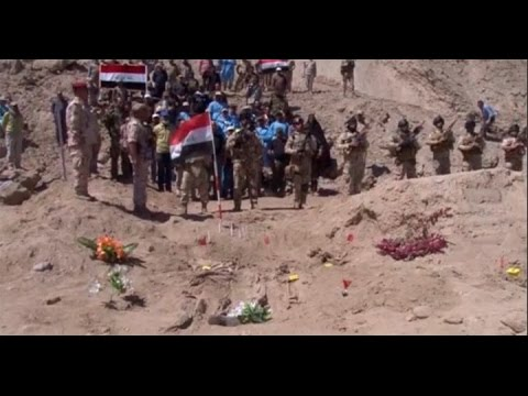 Exhumation of Iraq's Camp Speicher victim mass graves begins   Al Hashid Al Shaabi Handout, Reuters