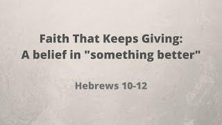 Faith That Keeps Giving