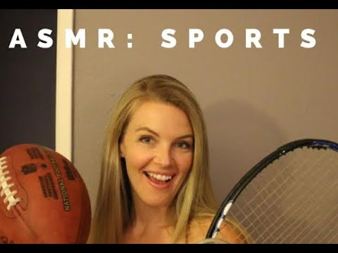ASMR | SPORTS EDITION | Scratching, whispers and tapping with sports equipment