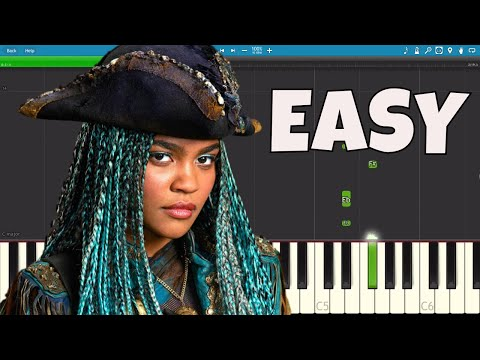 How to play What's My Name - EASY Piano Tutorial - Descendants 2 OST