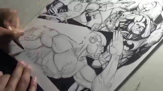 Drawing The Justice League by Gregory Krazed
