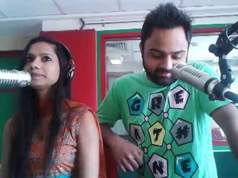 rj kanwar and rj lakha live on radio mirchi 98.3fm jalandhar studio it's hottt