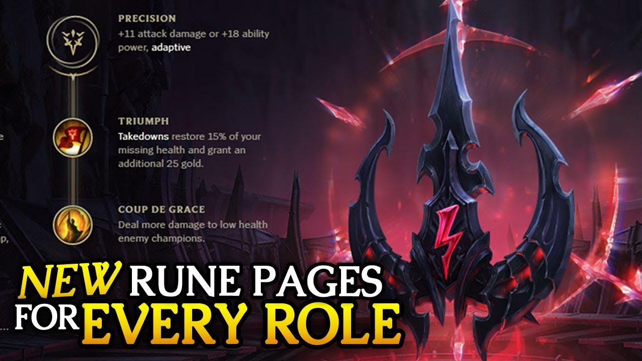 Best New PRESEASON Rune Pages to start with for EVERY ROLE in 7 22 (League  of Legends)