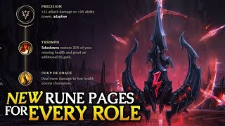 best new preseason rune pages to start with for every role in 7 22 league of legends