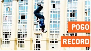 Most Backflips On A Pogo Stick | World Record