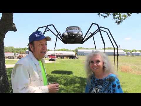 Volkswagen Beetle Spider, Avoca, Ia. Travel USA, Mr. Peacock & Friends, Hidden Treasures