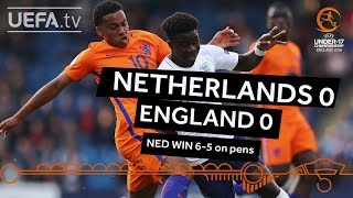 U17 semi-final highlights: England v Netherlands
