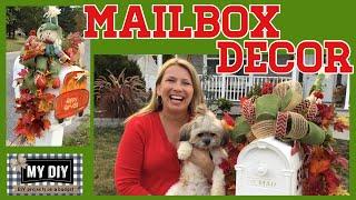 Mailbox Decoration Ideas Fall |  Pool noodle hack! | Dollar Tree DIY