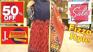 J dot - Junaid Jamshed Clothing 50% Off SALE with Fizza Style