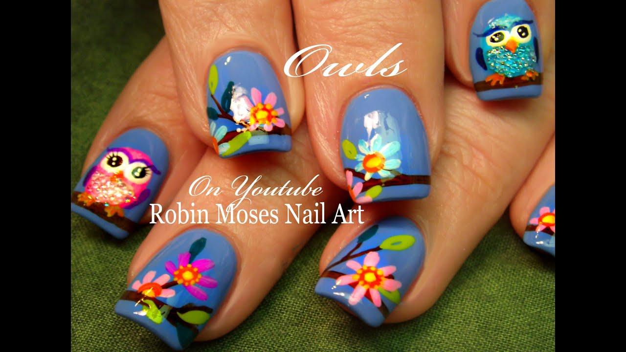 diy easy owl nails cute spring