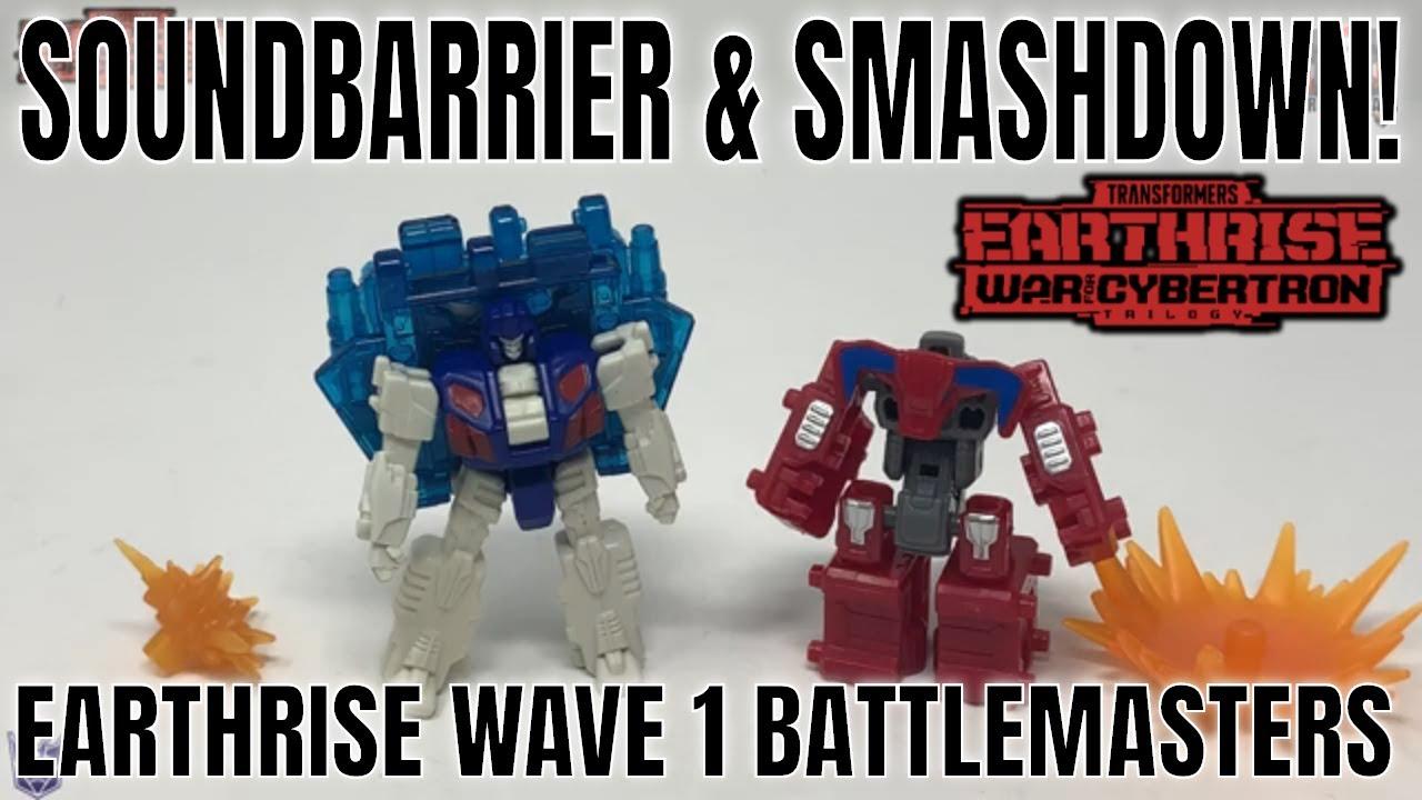 Earthrise WFC-E1 Soundbarrier and WFC-E2 Smashdown Wave 1 Battlemasters Review by Larkin's Lair