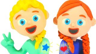 BABY GIRLS NEW TATTOOS ❤ Superhero Babies Play Doh Cartoons For Kids