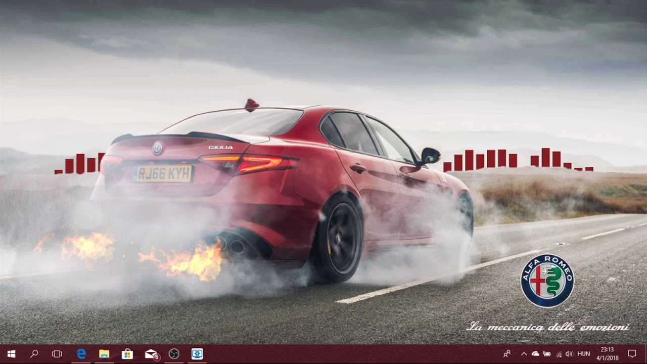 Alfa Romeo Giulia Qv Live Wallpaper And Rainmeter Youtube