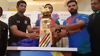 Nidahas Trophy unveiled by Rohit Sharma, Dinesh Chandimal and Mahmudullah | Oneindia News