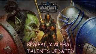 Battle for Azeroth-UPDATED Ret Pally Talents