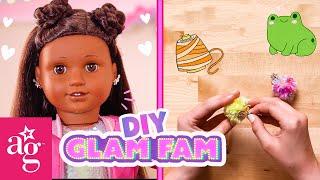 @American Girl Doll Crafts   Glam Fam Create DIY BFF Lucky Charm Keychains!