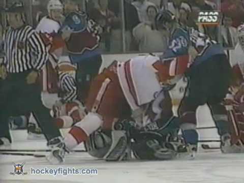 Patrick Roy vs Mike Vernon Mar 26, 1997