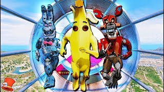 WORLD'S HARDEST FORTNITE BANANA ANIMATRONIC DEATHRUN! (GTA 5 Mods FNAF RedHatter)