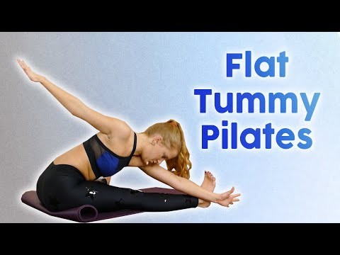 Pilates Exercises for Flat Abs, Core Strength & Low Back Stability, 30 Minute Workout, Banks Method