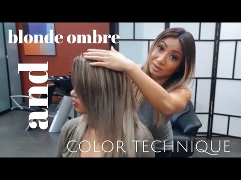 blonde ombre and COLOR technique