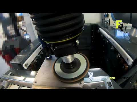 Testing automated chrome-nickel grinding with a cobot