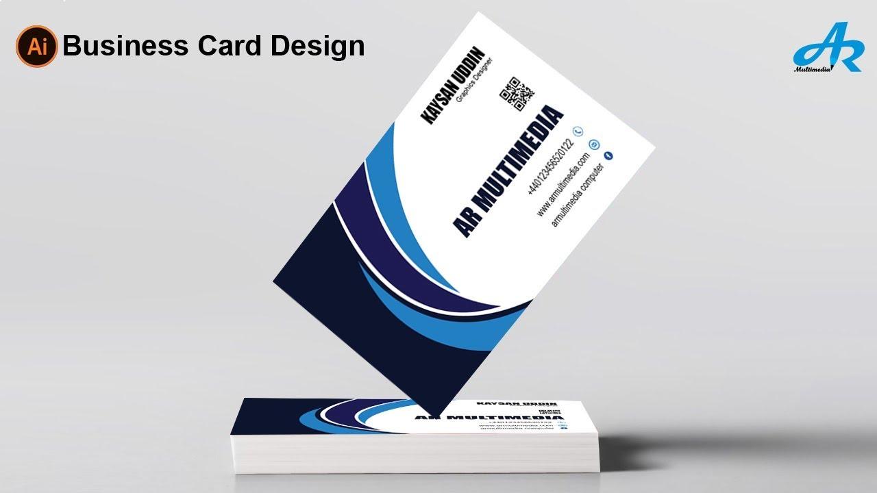 creative business card design in illustrator cc 2018modern