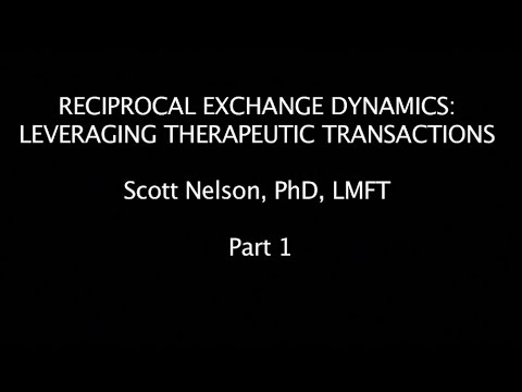Reciprocal Exchange Dynamics: Leveraging Therapeutic Transactions Part 1
