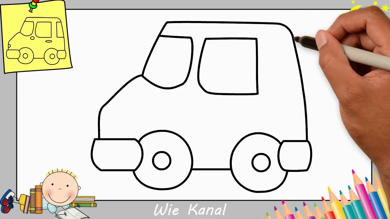 Auto Zeichnen Lernen Einfach Schritt Für Schritt Für Anfänger Kinder 9