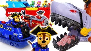 Pirates Are Stealing Dinosaur Eggs~! Go Paw Patrol, Transform Into Pirate Ship - ToyMart TV