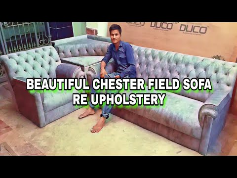 Chesterfield sofa reworked