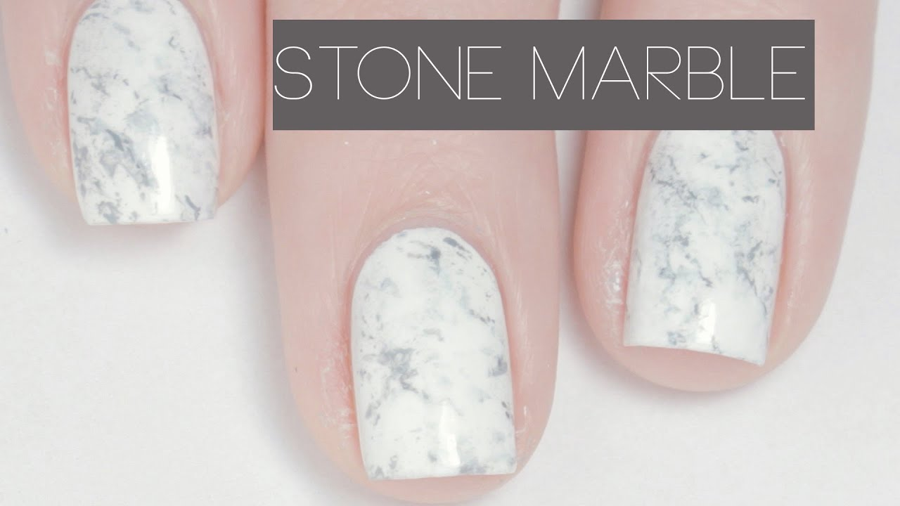 Stone marble nail art youtube prinsesfo Image collections