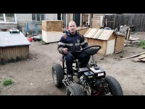 #МИНИТРАКТОР Двигатель и сцепление