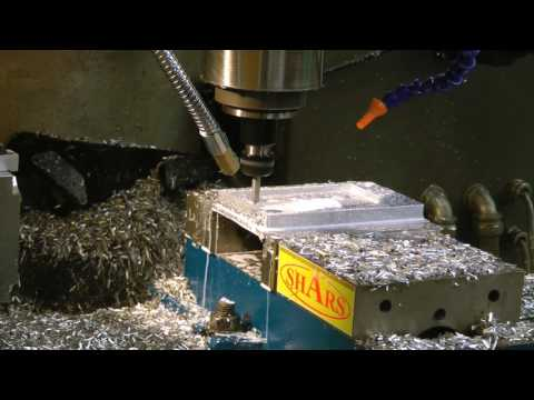 Complete machining of camera case back - includes high-speed shots