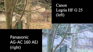 canon legria hf g 25 vs panasonic ag ac 160 aej full hd