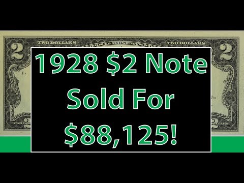 1928 $2 Red Seal Note Sold For $88,125! The Value Of $2 Currency Notes